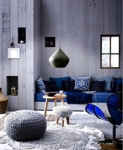 Murs et accessoires indigo