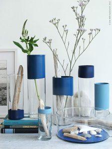 Petites touches de bleu dans la deco salon exterieur indigo deco