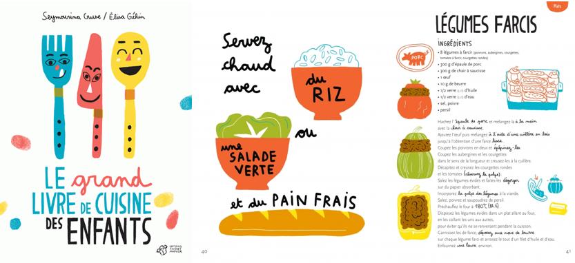 Le grand livre de cuisine des enfants de Seymourina Cruse et Élisa Géhin