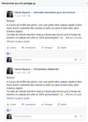 Facebok partage groupes