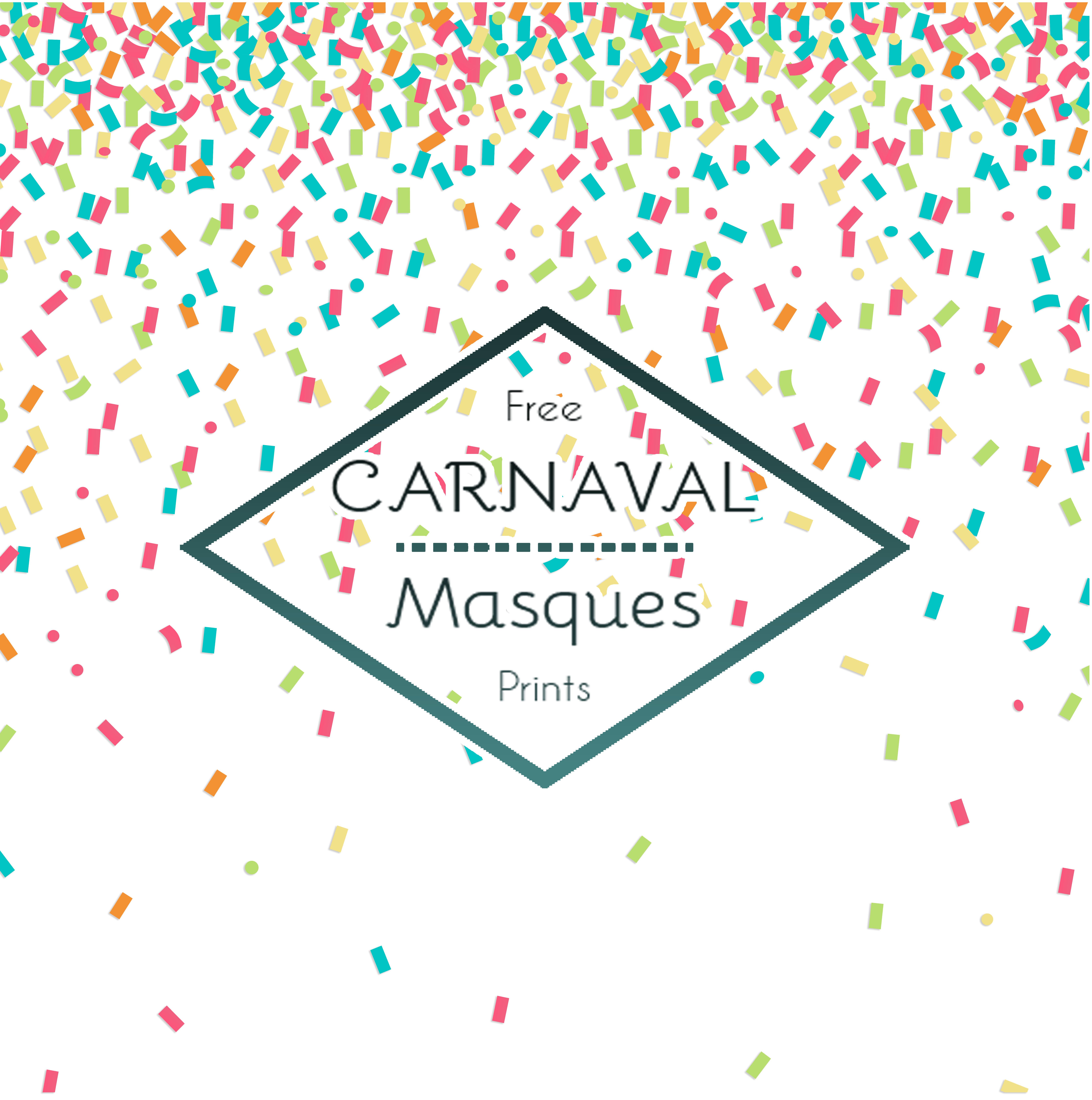 masque de carnaval free printable