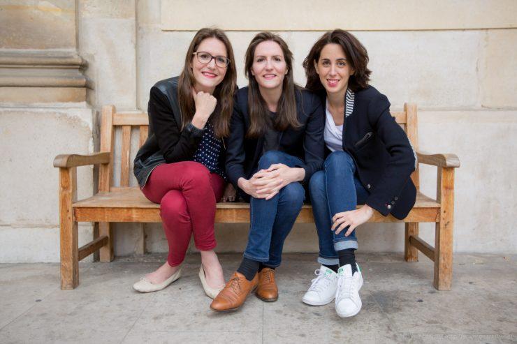 (Portraits Fondatrices Kokoroe May2015) Raphaelle et Elise Covilette et Beatrice Gherara