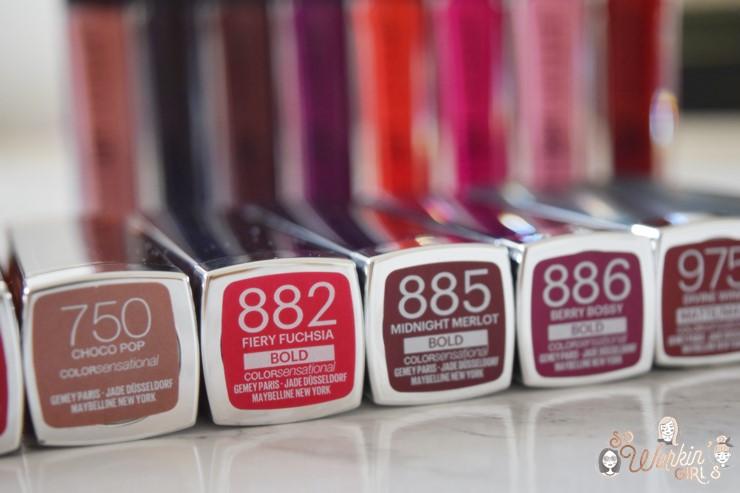 Les rouges à lèvres Color Sensational de Maybelline