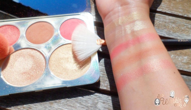 La palette d'highlighters et