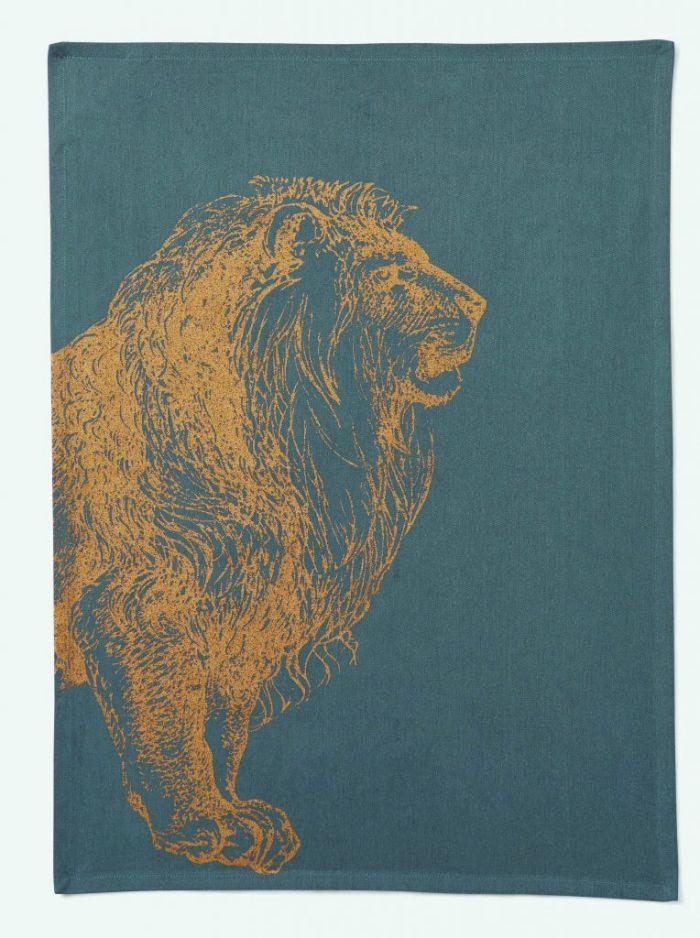 Torchon imprimé avec un lion