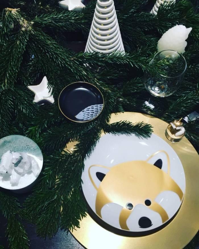 Table de Noël, présentation presse de la collection Noël de Monoprix