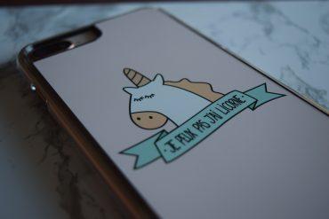Coque de téléphone iPhone 8 Plus de la marque Azorm, Je peux pas j'ai licorne