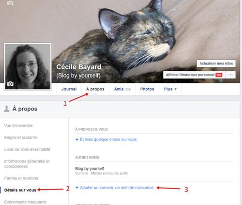 Facebook changer nom