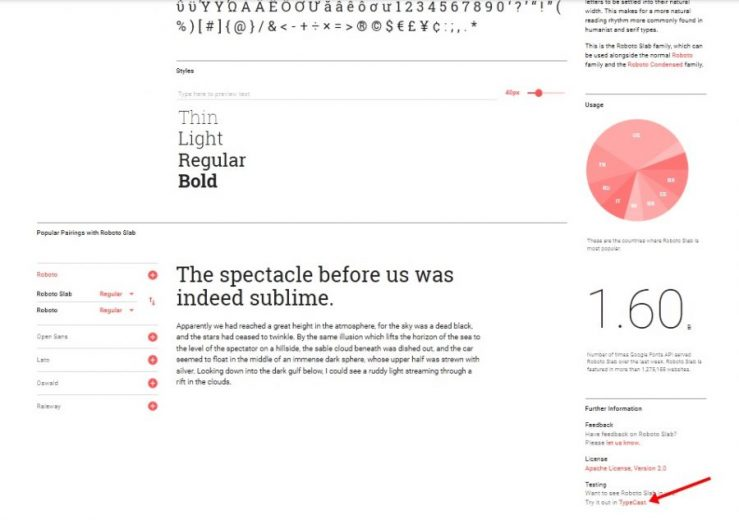google fonts typecast