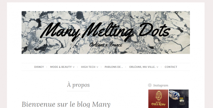 Screen du blog de Margaux, Many Melting Dots