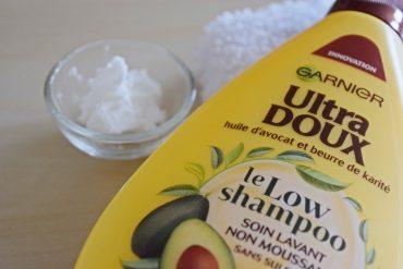 Le Low Shampoo de la marque Ultra Doux de Garnier : un soin lavant mais non moussant