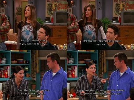 Friends : la place de la loterie dans les séries TV