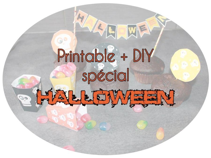 Éléments à imprimer pour préparer de jolies décorations pour Halloween