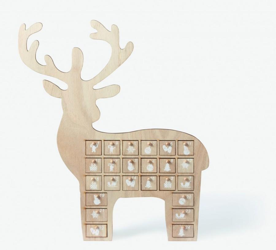 Calendrier de l'avent en forme de rennes, collection de Noël de chez Monoprix
