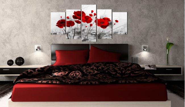 Tableaux Bimago dans une chambre à coucher