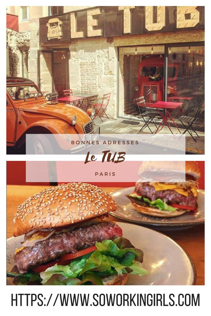Bonnes adresses à Paris entre le Palais Royal et le Louvre : le restaurant le TUB
