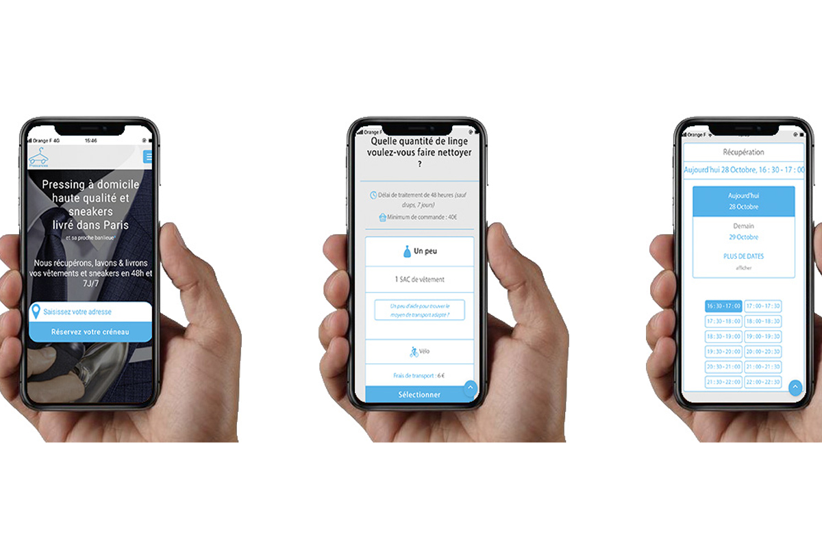 Commande sur le site de Pressandco sur un téléphone mobile